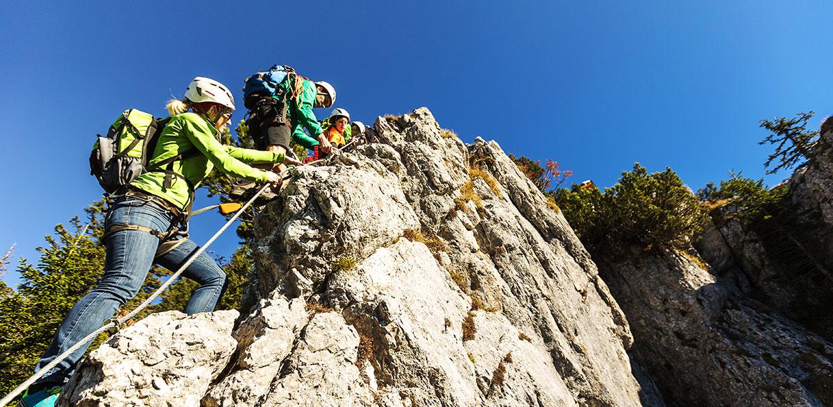 Klettersteigset im Schutzhaus Hochkar ausleihen